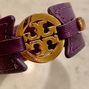 Tory Burch Purple Logo Cuff